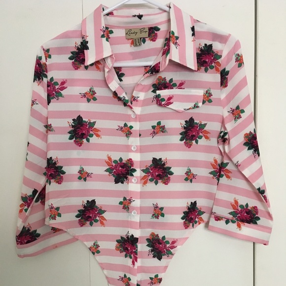 d97fdb8a Lindy Bop Tops | Cropped Tie Front 50s Style Blouse | Poshmark